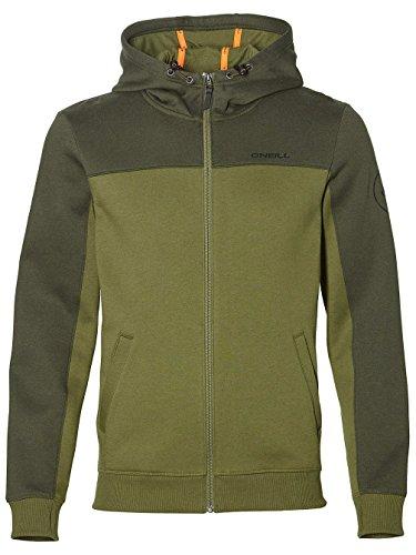 O'Neill O 'Neill Herren Block Zip Hoodie Sweatshirt L Winter Moss Kapuzenpullover, Block Zip Hoodie