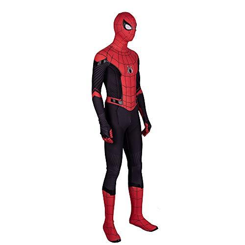 Spiderman Real Kostüm - Spiderman Kostüm Kind Erwachsener Cosplay Kostüm Superhelden Halloween Mottoparty Onesies 3D Druck Spandex Strumpfhosen,Child-S