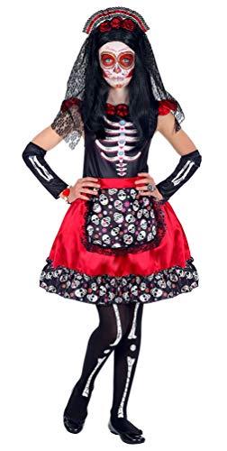 Karneval-Klamotten Tag der Toten Kostüm Kinder La Catrina Kostüm Mädchen Größe ()