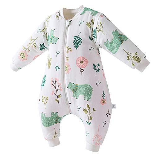 HAPPY CHERRY Baby Schlafsack Weich Baumwolle Strampelsack Ganzjahres Schlafanzug Jungen Mädchen Strampelsack mit Beinen