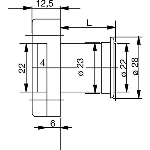 BURG WÄCHTER MZ 23 Zylinder-Kastenschloss Sperre Z 3, 25 mm, Messing poliert, MZ 23 Z3 GL