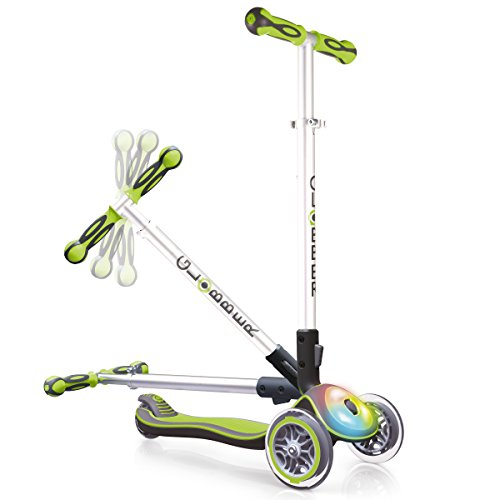 Globber Elite Scooter With Deck Lights - Lime Green Best Price and Cheapest
