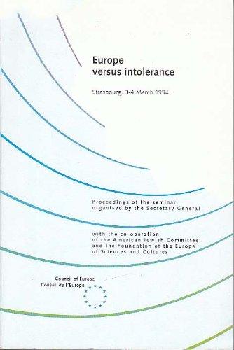Europe Versus Intolerance, 3-4 march 1994