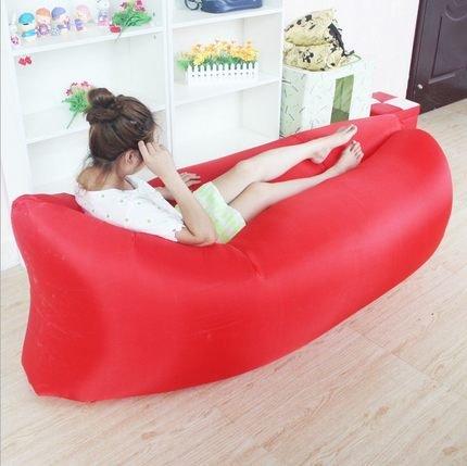 Outdoor portatile pieghevole Poltrona gonfiabile Lounger divano letto cuscino per sdraio Sdraio Lazy Borsa pausa (Divano Borsa)