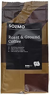 Amazon Brand Solimo Ground Coffee Aroma Compatible with All use - UTZ Certified, 1,36 kg (6 x 227g) from Amazon EU Sarl