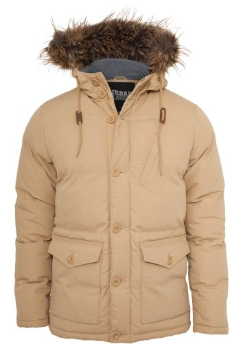 Urban classics chambray lined parka-homme-coupe regular fit 574 to Beige - Beige