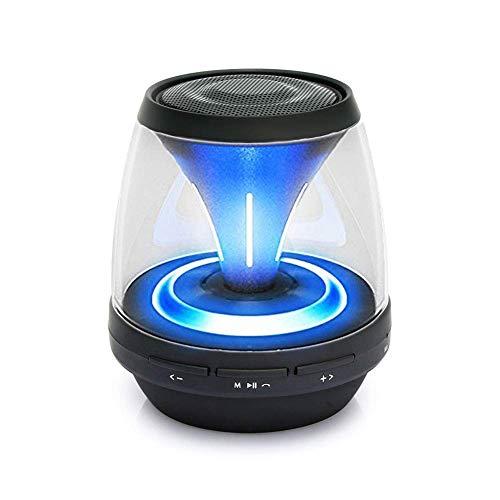 Ydq LED Bluetooth Lautsprecher, LED Dimmbare Farbwechsel Lampe Touchlampe Stimmungslicht,Treiber Wireless Speakers Mit TF Karte, Mikrofon Und Reinem Bass