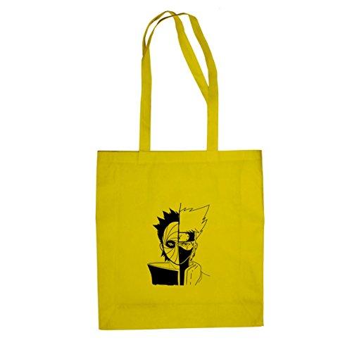 Planet Nerd Ninja Face Off - Stofftasche/Beutel, Farbe: gelb
