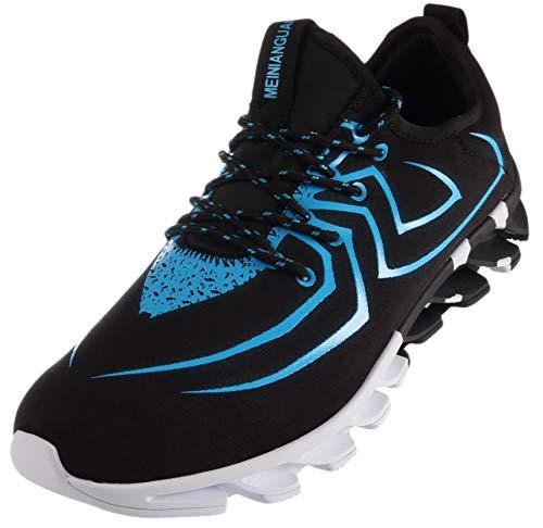 BRONAX Laufschuhe Herren Sportschuhe Männer Licht Turnschuhe Jungen Freizeitschuhe Atmungsaktiv Wanderschuhe rutschfeste Straßenlaufschuhe Gym Fitness Schuhe Trainer Sneakers Blau 39 EU (40 Asien) -