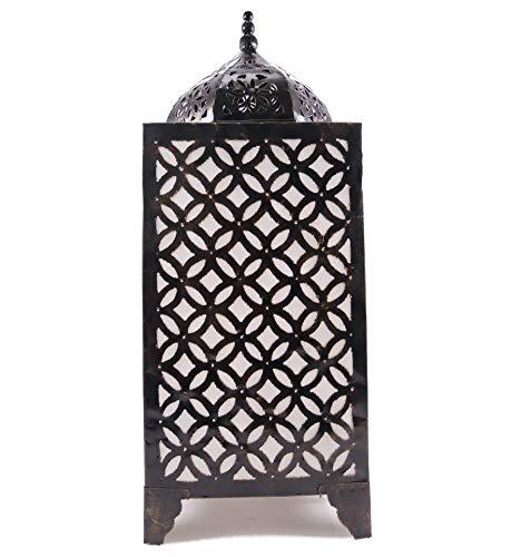 Lampe oriental H65cm en fer forgé. Artisanat marocain.