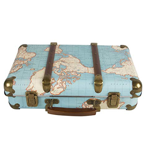 Around The World Vintage Map Hard Suitcase