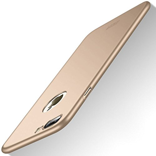 Meimeiwu Alta Qualità Ultra Sottile Leggera [Morbido tocco] Antiscivolo Duro PC Shell Slim Custodia Per iPhone 7 - Oro Oro
