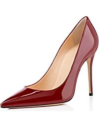 elashe- Scarpe col Tacco - Decolleté Chiuse Donna - Elegante Alto 4 inch -  Scarpe d5b50779b8c