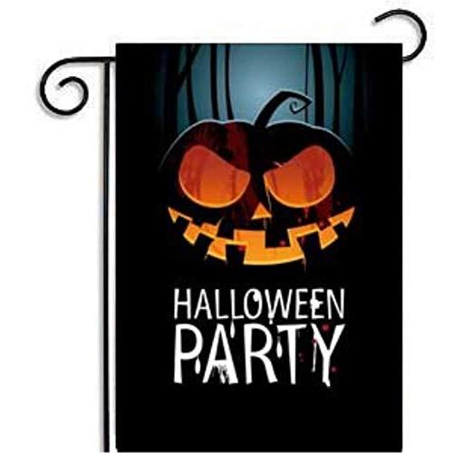 CTOBB 1PC Halloween Garten kennzeichnet Dekorationen 30x45cm Kürbis Hänge Flagge Banner Außenwohnkultur Thanksgiving-Ereignis-Partei-Versorgungsmaterialien, Farbe, Kürbis 3