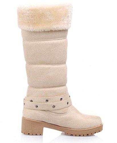 bottes de neige chauds Dongkuan avec des bottes à talons carrés en bottes de mat 4