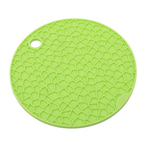 Sevenfly Silikonkissenmatte Backformenmatte Wärmeisolationskissen Küchengeschirr Cup Bowl Mat, grüner Kreis