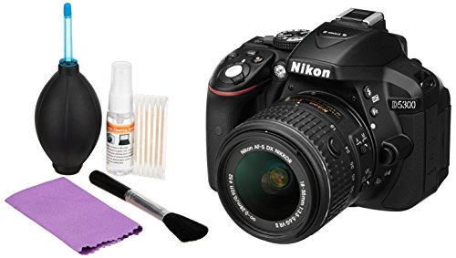 Nikon-D5300-241MP-Digital-SLR-Camera-Black-with-18-55mm-VR-II-Kit-Lens-Card-and-Camera-Bag-Photron-Clean-Pro-5-In-1-Cleaning-Kit