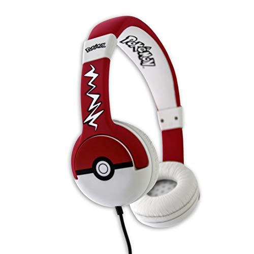 Casque Audio Pokémon Pokeball OTL Technologies Rouge et Blanc