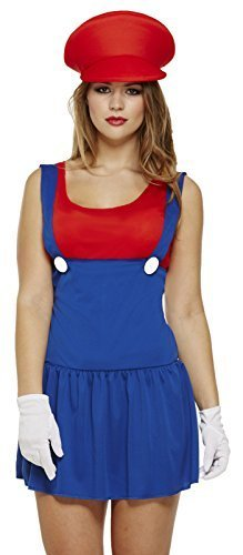 Ladies Mario Red Plumber Outfit