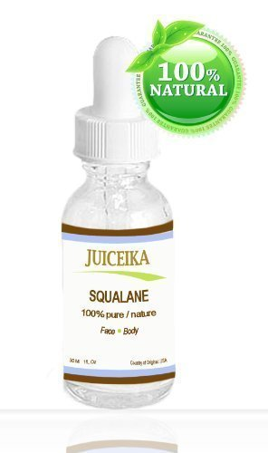 Squalane 100 % Pure/ Natural. For Face. Elegant Moisturizer, Wrinkle Reducer 1 oz-30 ml By Juiceika -