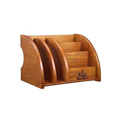 BBYE En bois massif multi - fonction à distance Boîte de rangement de contrôle Papeterie créative en bois débris bureau Boîte de rangement Salon Table basse