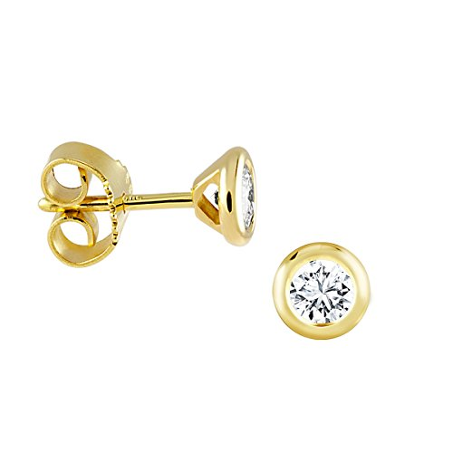 Diamond Line Damen - Ohrstecker 585er Gold 2 Diamanten