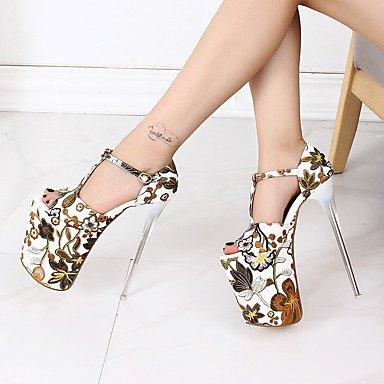 Rtry Mujer Talones 20cm Altura Del Talón Sexy Peep Toe T-strap Stiletto Bombas De Tacón Zapatos De Fiesta Más Colores Disponibles Us8.5 / Eu39 / Uk6.5 / Cn40