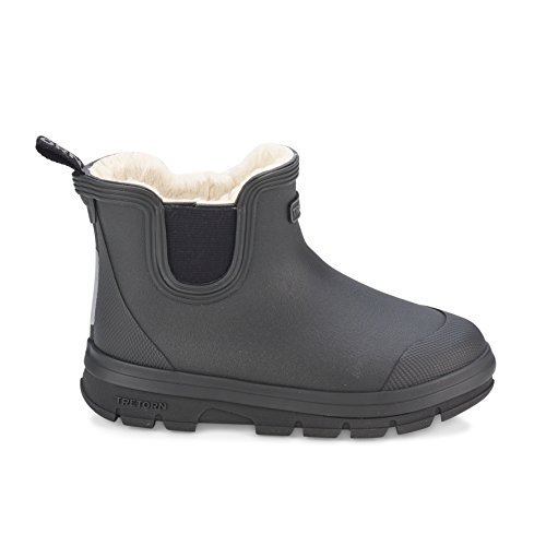 Tretorn AKTIV Chelsea Winter Kurzschaft Gummistiefel Wasserdicht Natürliches Gummi Kinder, Schwarz - Größe: 26 - Schuhe Tretorn