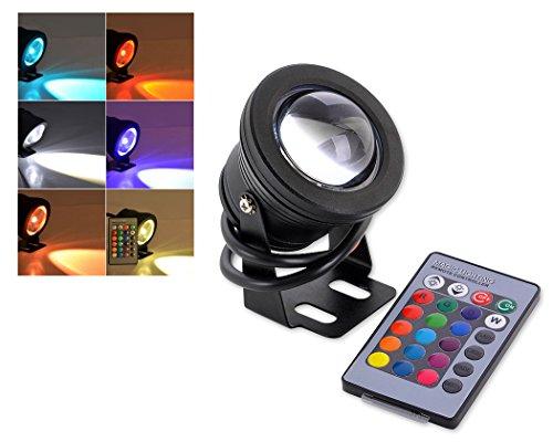 DSstyles LED-Licht Unterwasserlicht 10W 12V RGB Pool Licht wasserdichtes LED-Spot-Licht mit Fernbedienung