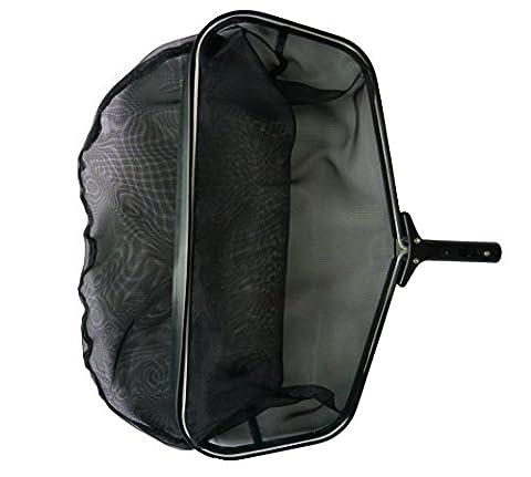 FibroPRO Stiff Black Professional Grade Leaf Rake Skimmer Net, 24