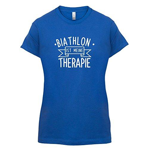 Biathlon ist meine Therapie - Damen T-Shirt - 14 Farben Royalblau