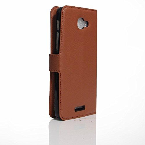 Manyip Téléphone Coque - PU Cuir rabat Wallet Housse [Porte-cartes] multi-Usage Case Coque pour pour Alcatel One Touch Flash plus 2 Classique Mode affaires Style(JFC2-2) F
