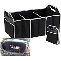 Kretix Travel Collapsible Foldable Multi Compartment Fabric Toys Car Cargo Container Truck Van SUV Storage Basket Organizer Cooler Set