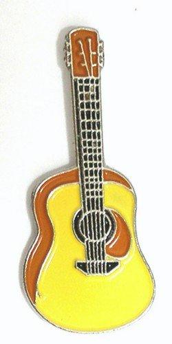 metal-esmalte-insignia-de-broche-guitarra-acustica