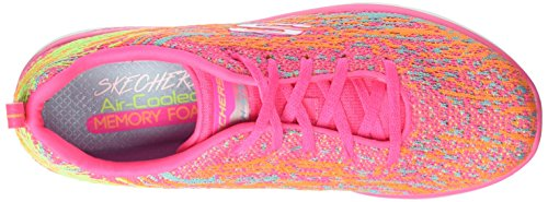 Skechers Damen Synergy 2.0-High Spirits Sneaker Mehrfarbig (Hot Pink/multicolour)