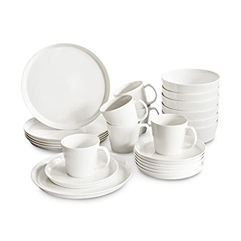 Porzellan Geschirr-Set Svea 24tlg. von Springlane Kitchen hochwertiges rundes Geschirrset