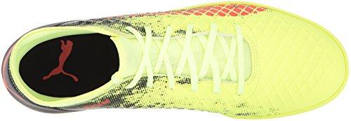 Puma Chaussures Future 18.4 TT Pour Homme Fizzy Yellow/Red Blast/Puma Black