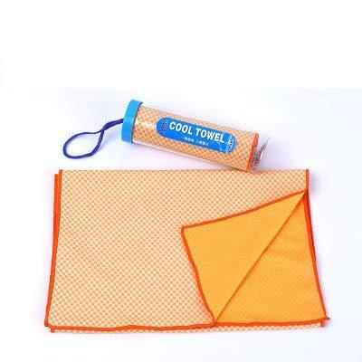 HATCHMATIC SKDK Quick Dry Handtcher Yoga Orts Schwimmen Fitness Gym Handtcher Crossfit Workout Gewichtheben Schweiß Khlung Handtcher Wipe bbell: Orange