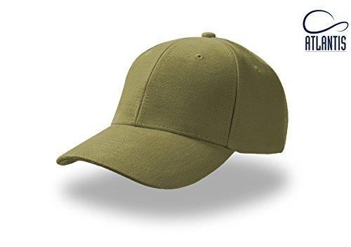 PILOT OLIVE Baseball Cap Cappello Hüte Kappen Chapeaux Berretto Cotone Fibbia Metallo