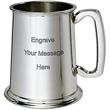 Personalised 1 Pint Stainless Steel Tankard Engraved
