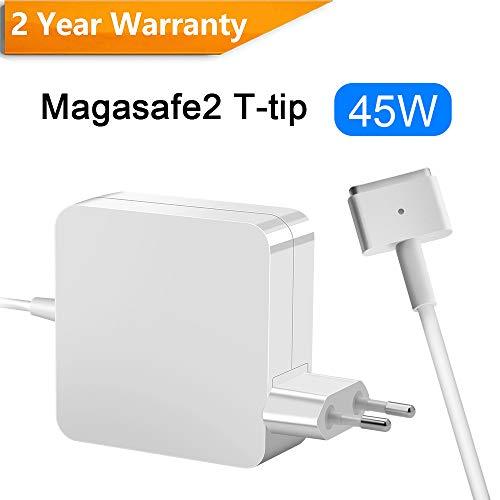 Opluz kompatibel mit MacBook Air Ladegerät 45W MacBook Air Charger Magsafe 2 Magnetische T-Spitze Power Adapter Ladegerät Netzgerät Ersatz Ladegerät Repacement für MacBook Air 11 und 13 Zoll Mi 2012 -