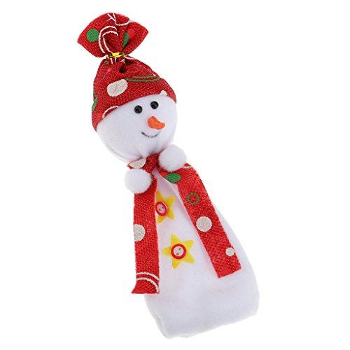 Sharplace Weihnachten Schneemann Puppe Apfel Süßigkeiten Sack Geschenksäckchen Weihnachten Kinder Geschenk Stocking Säckchen - Rot -