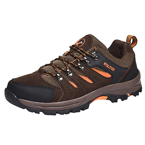 MISSQQScarpe da Trekking Uomo Donna Scarpe da Escursionismo Unisex Outdoor Resistente all'Acqua Antiscivolo Stivali Trekking e Passeggiate All'aperto Sneakers