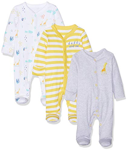 a008be0228819 Mothercare Unisex Baby Mummy and Daddy Sleepsuits - 3 Pack Bodysuit