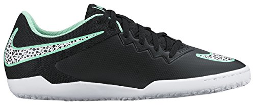 Nike  Hypervenomx Pro IC, Chaussures de foot pour homme multicolore Noir - Negro (Black / White Green Glow Grn Glw)