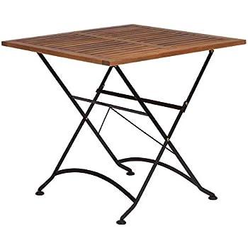 Amazon.de: BUTLERS Parklife Gartentisch aus Holz 80x80x75