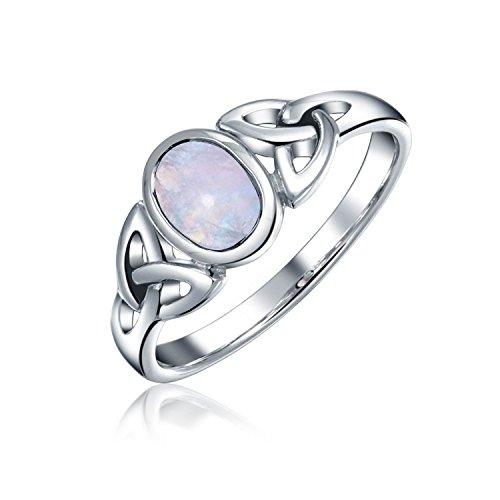Bling Jewelry Argent 925 Bijoux Triquetra Celtique Anneau Nœud Moonstone