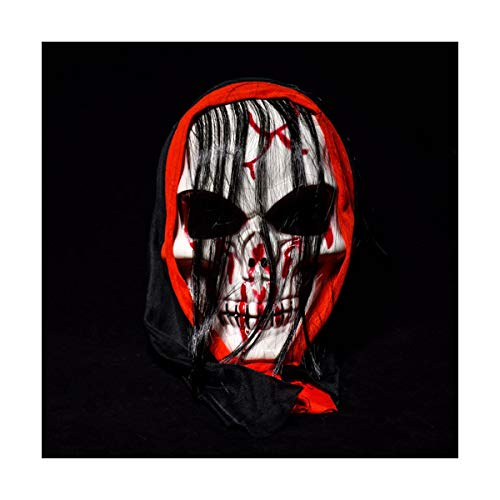 BUY-TO Halloween-Maske Kostüm-Party Kopfschädel Scary Horrible Masquerade für Erwachsene,Black
