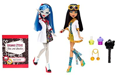 Monster High - Muñecas Ghoulia y Cleo compañeras de trabajo (2-Pack) (Mattel BBC81) por Mattel