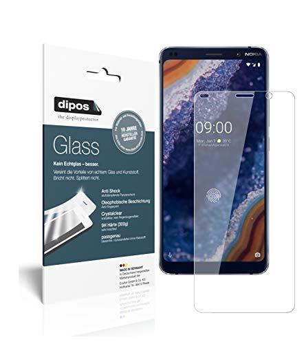 dipos I 2X Panzerfolie klar passend für Nokia 9 PureView Schutzfolie 9H Displayschutz-Folie (1x Vorderseite + 1x Rückseite)